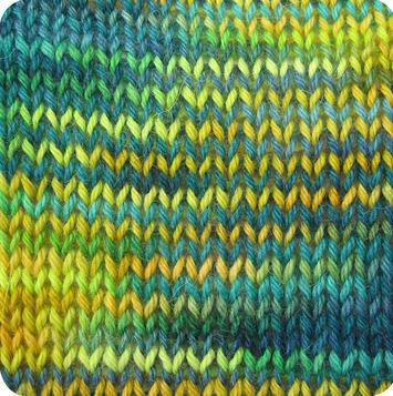 Alpaca and Superwash Wool Sock Yarn - Angry Peacock AYC-638