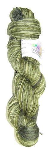 Alpaca and Superwash Wool Sock Yarn - Green Gator