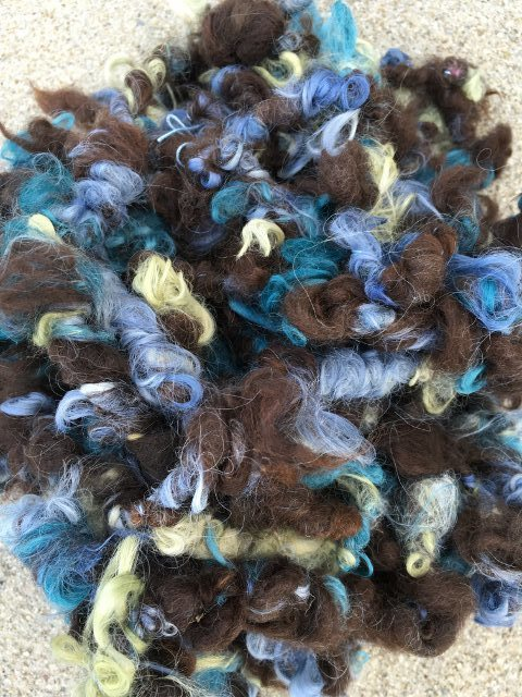 Alpaca Art Yarn - Lily, Ivy, Indigo, Dark Brown