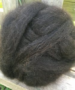 Alpaca Roving - Bay Black