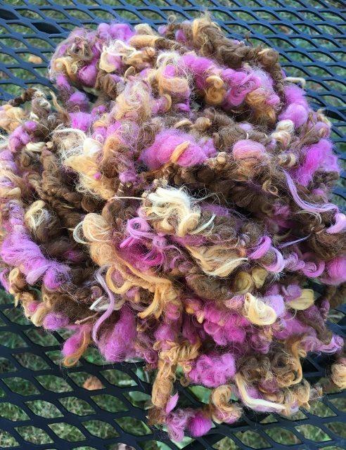 Alpaca Art Yarn - Cyclamen, Citrus, Dark Fawn