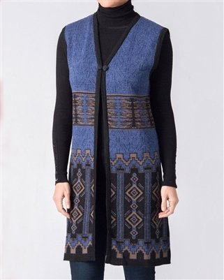 Cathedral Ladies Long Alpaca Vest PL-P16VEST061