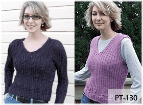Tangled Ribs Sweater & Vest by Beth Lutz