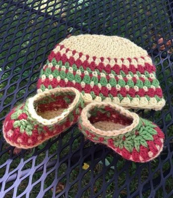 Baby Alpaca Booties and Hat Set - Made to Order