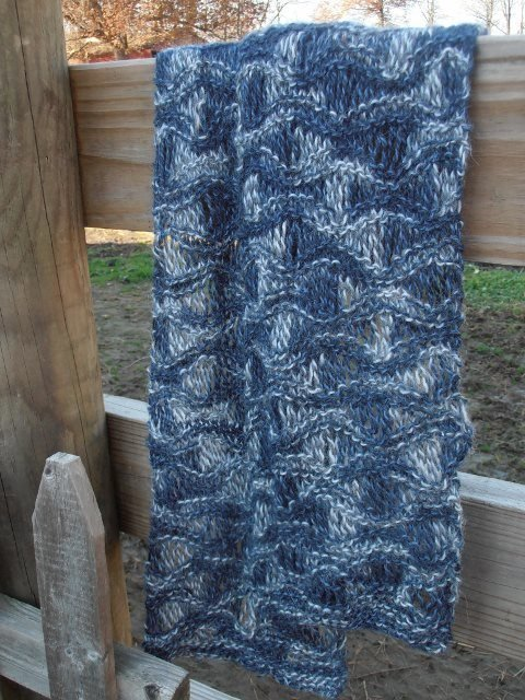 Drop Stitch Alpaca Scarf Knitting Class