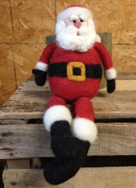 Santa Needle Felting Class 17920