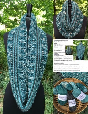 Alpaca Crochet Kit - Swizzle Striped Infinity Scarf