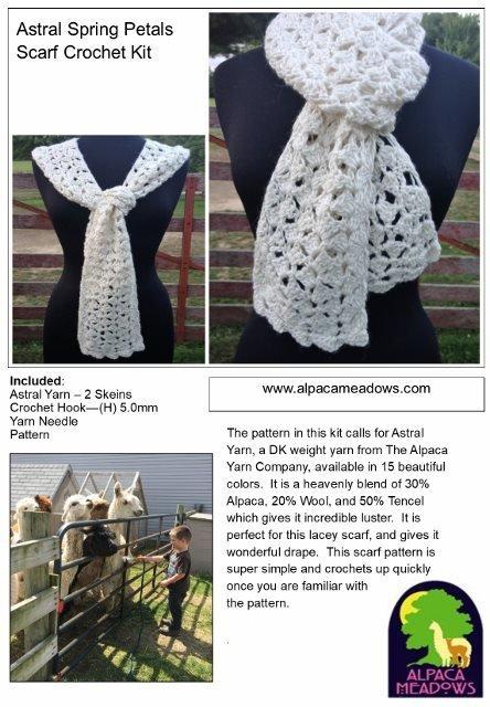 Alpaca Crochet Kit - Lacy Scarf 18192