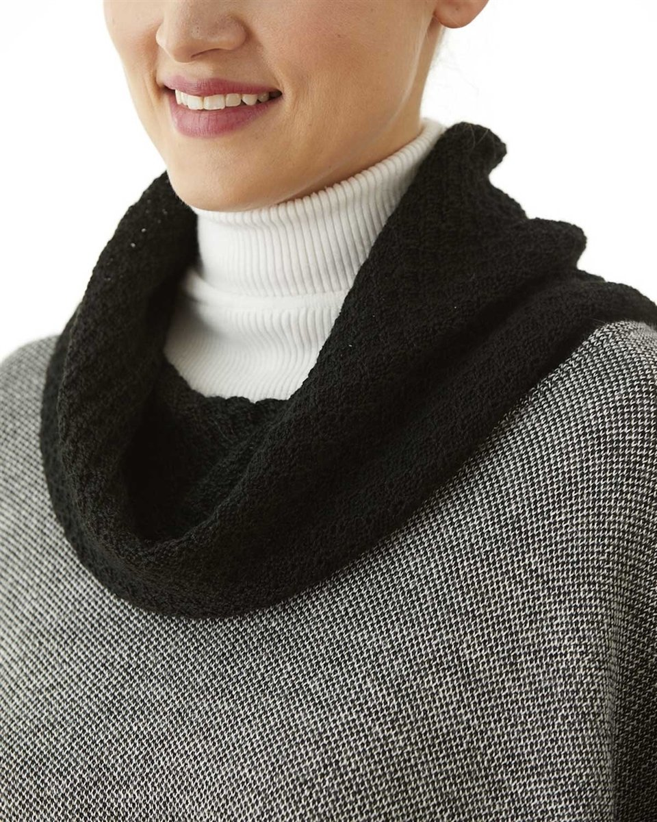 NEW Cowl Neck Square Alpaca Cape