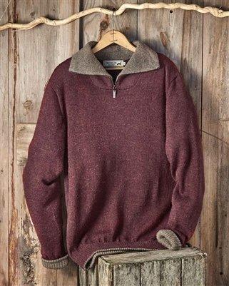 Men's Alpaca Zipper Sweater PL-16560
