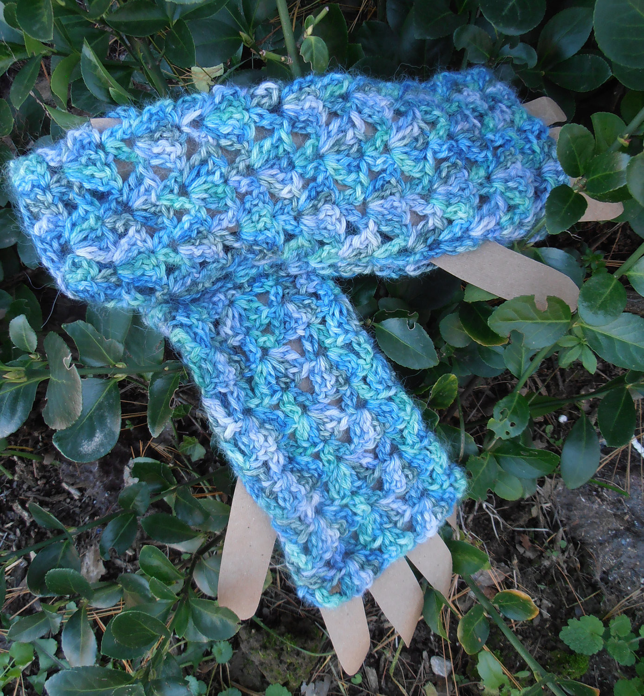 XLarge Lacy Fingerless Alpaca Gloves - Paca Paints
