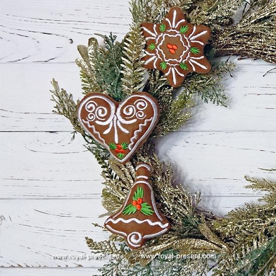 In The Hoop Machine Embroidery Designs Christmas Cookies RPE-1225 - part2