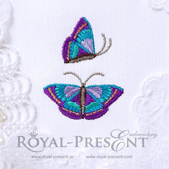 Machine embroidery designs Purple Butterflies RPE-573