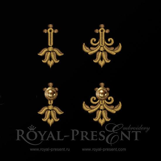 Baroque buttonholes Machine Embroidery Designs RPE-889-01