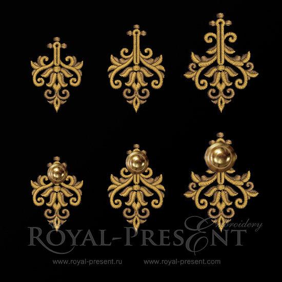 Machine Embroidery Designs Baroque buttonholes RPE-889