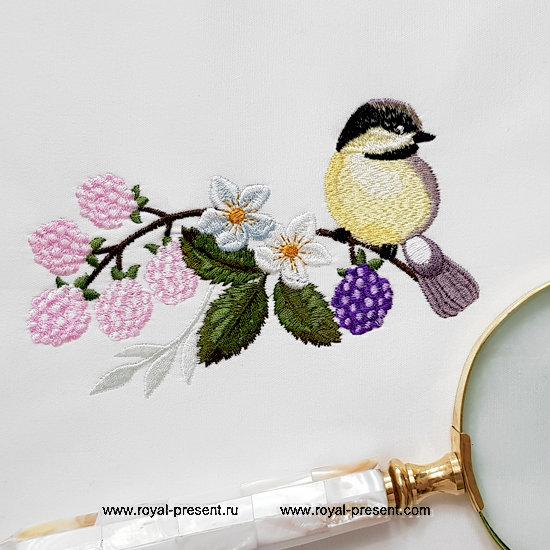 Machine Embroidery Design Titmouse - 2 sizes RPE-1328