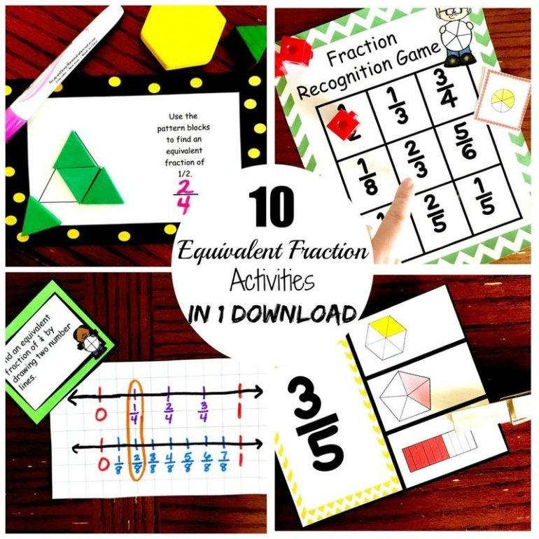 10 Equivalent Fraction Activities