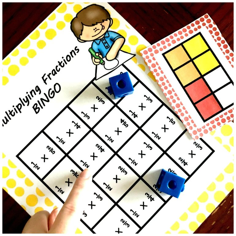 Multiplying Fraction By Fractions BINGO 00004