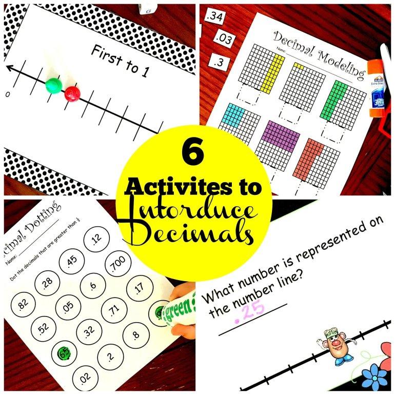 6 Introducing Decimals Activities 00009