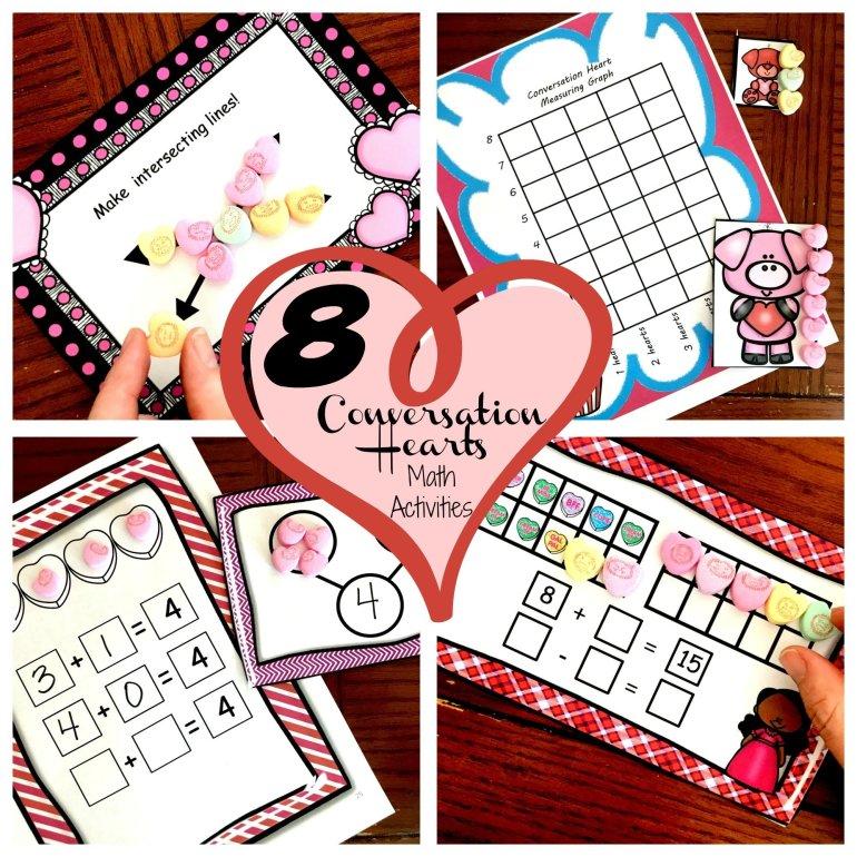 Eight Valentine's Day Conversation Hearts Math Activities 00013