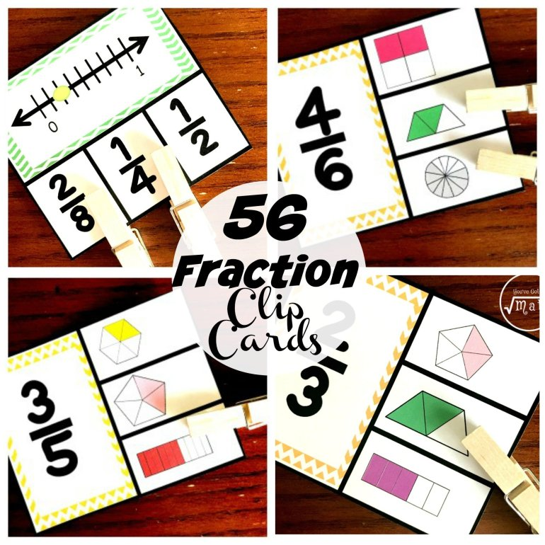 56 Fraction Clip Cards 00017