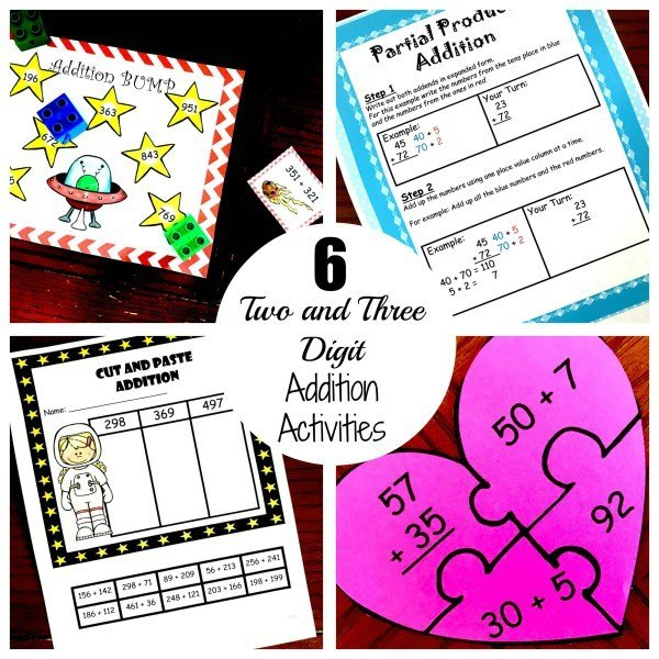 Six Two and Three Digit Addition Practice 00018