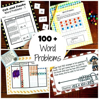 100 Word Problems For K - 2nd Grade