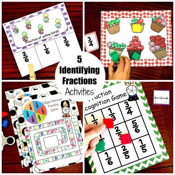 5 Identifying Fraction Activities 00024