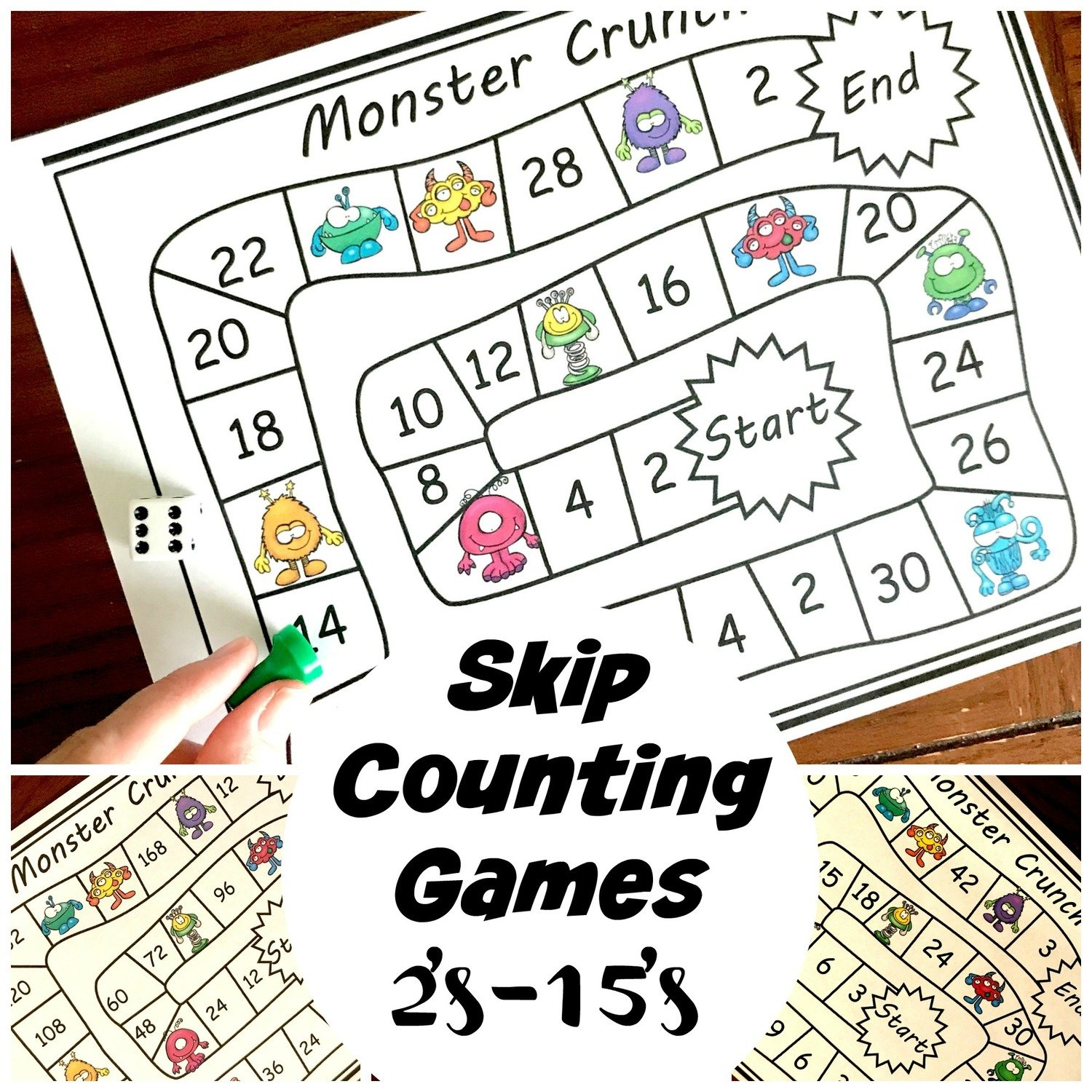 Skip Counting Games 2's Through 15's