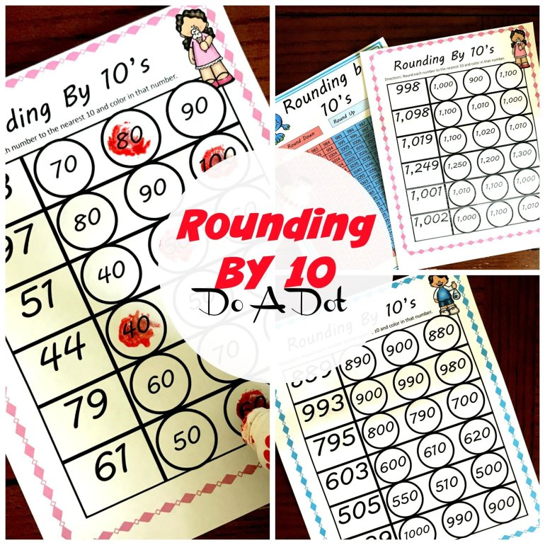 Rounding By 10 Do A Dot Worksheets 00034