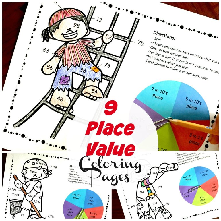 Pirate Place Value Coloring  Pack 00012