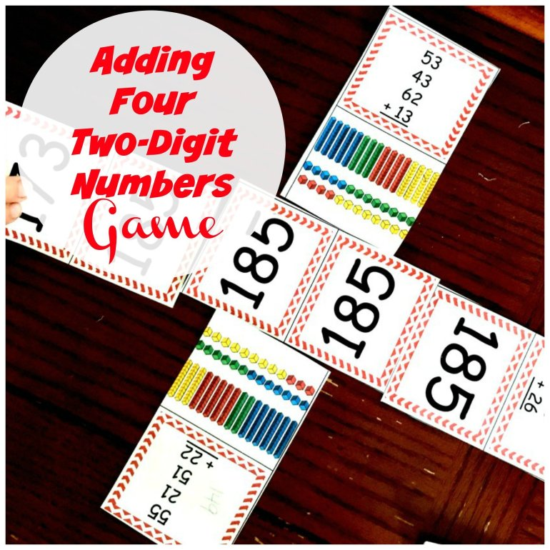 Adding Four Two Digit Numbers Game 00045