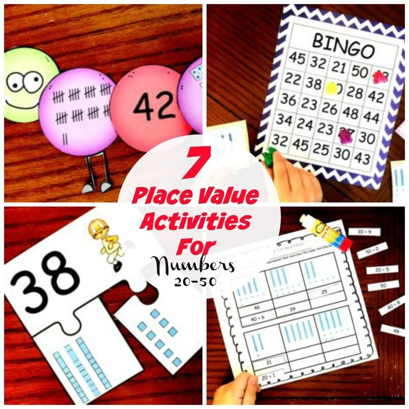 7 Place Value Activities for Numbers 20 - 50