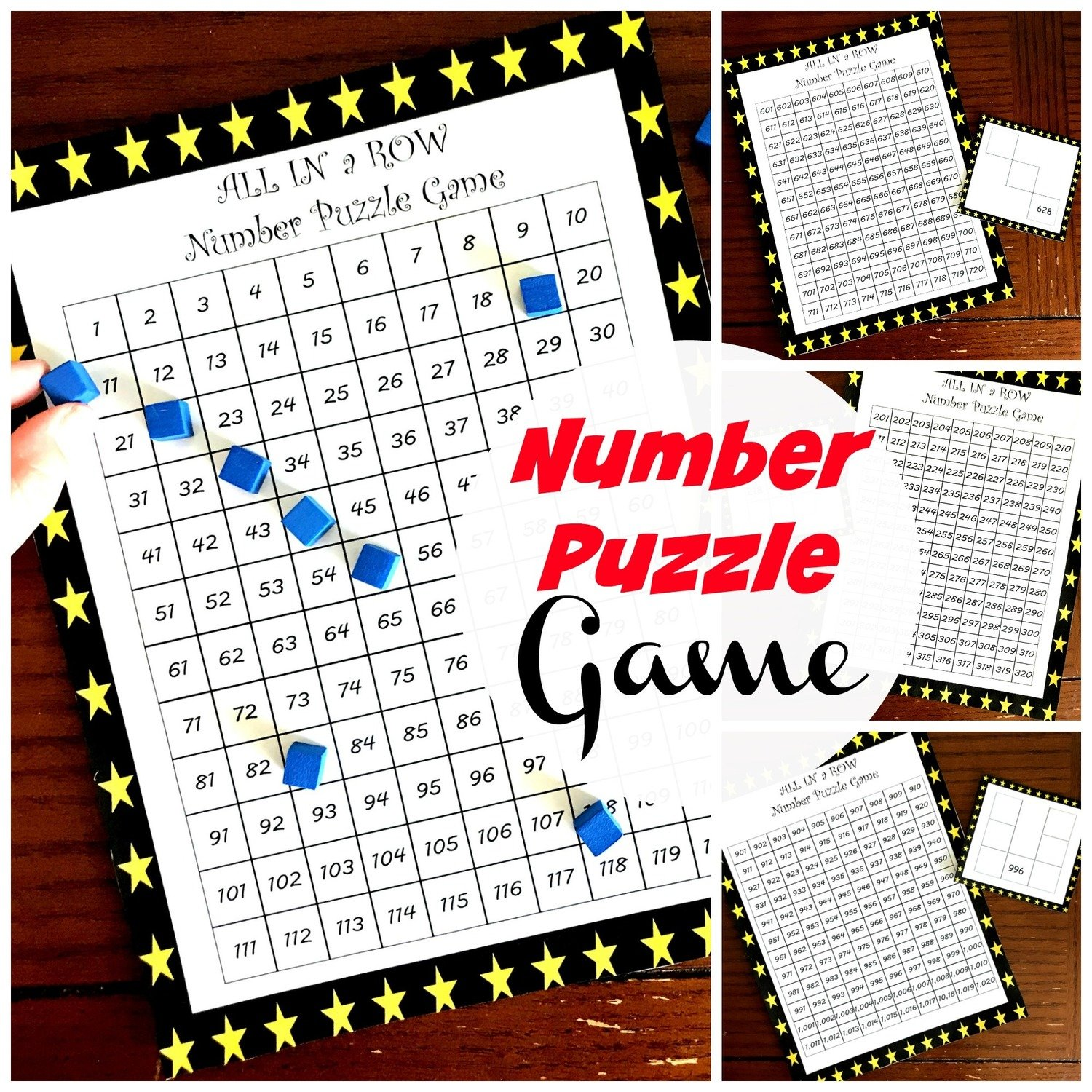 Hundreds Chart Puzzles for 1 to 900