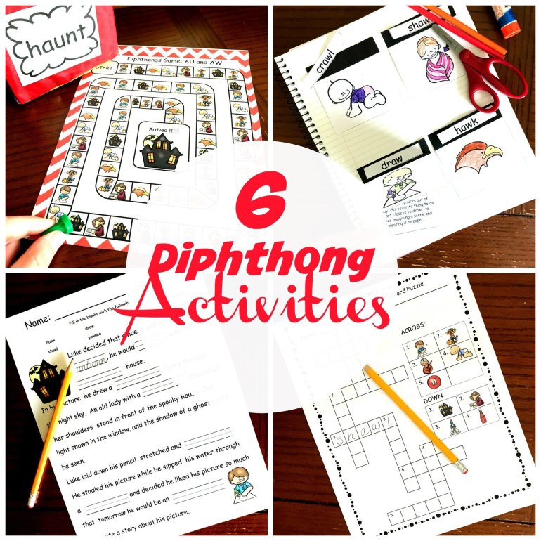 6 Diphthong Activities 00050