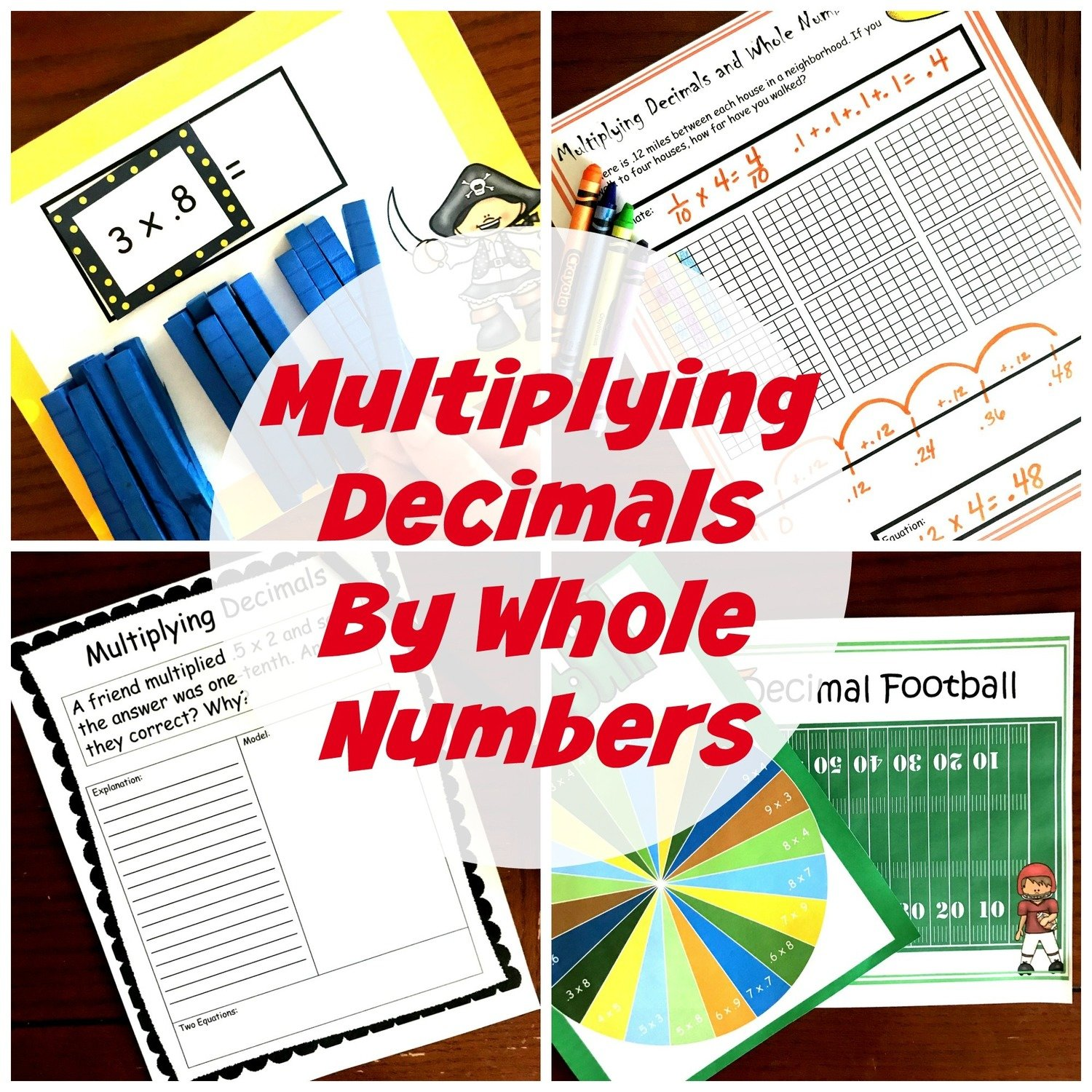 5 Multiplying Decimals By Whole Numbers