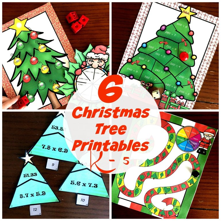 Seven Christmas Tree Math Activities 00063