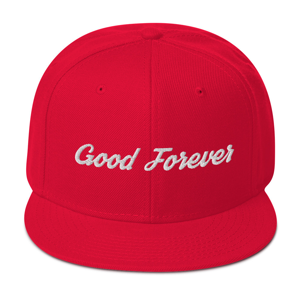 Good Forever Signature Candy Red Snapback Hat 00084