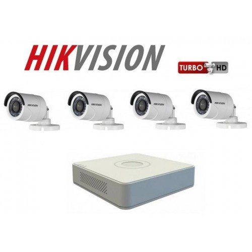 Kamerapaket Bullet 2MP Turbo HD Hikvision F1 / N 00001