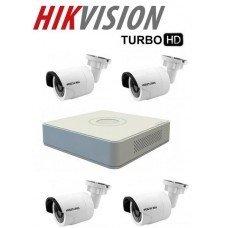 Kamerapaket Bullet 1MP Turbo HD Hikvision F1