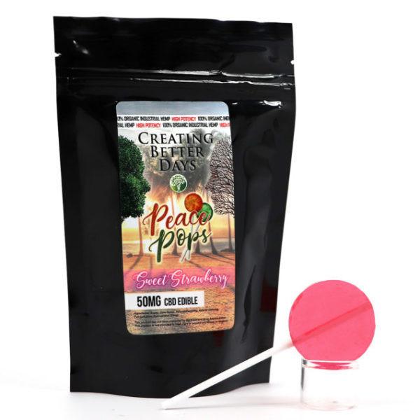 CBD Lollipop 50 mg Strawberry