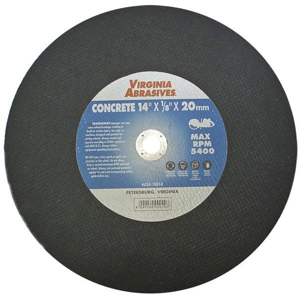 "14"" Concrete Abrasive Blade 1"" Arbor (10 pack) 00004"