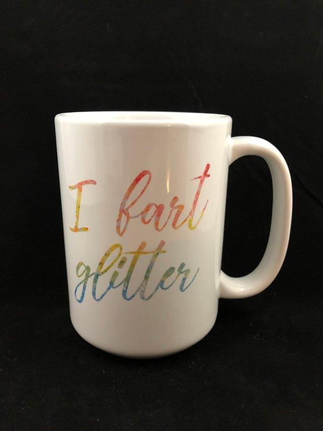 I Fart Glitter Mug