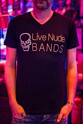 Krakatoa UV Reactive Ink Tiki Dive Bar Mens T-Shirt / Tee - Live Nude Bands