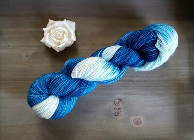 Peacock Ombre Hand Dyed Yarn