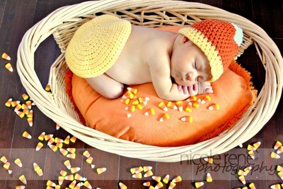 Candy Corn Baby Crochet Pattern
