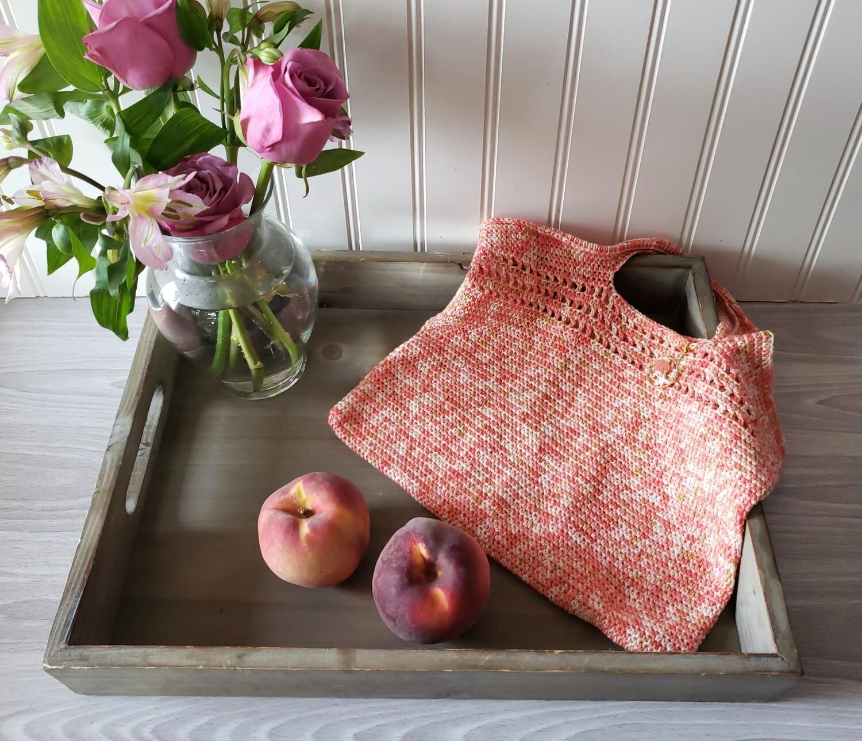 Coral Market Bag Crochet Pattern
