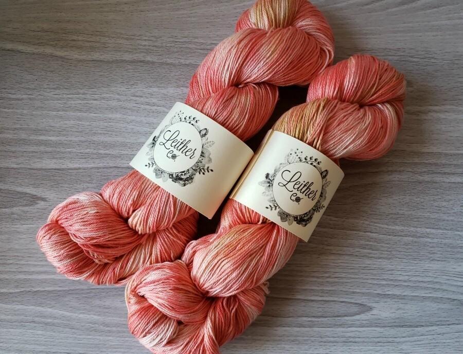 Coral Pima Cotton Hand Dyed Yarn