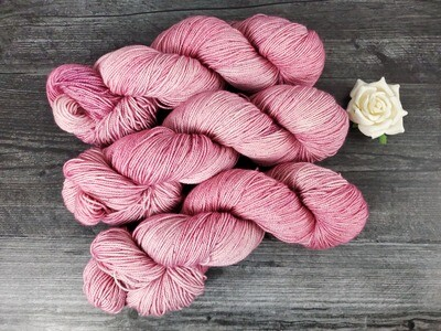 Blush Pink Hand Dyed Yarn - Sock RTS