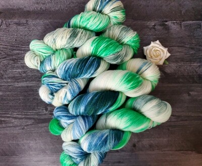 Spearmint Hand Dyed Yarn RTS